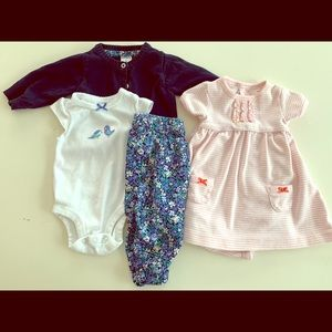 Carter's Baby Girl 0-3 Month Collection